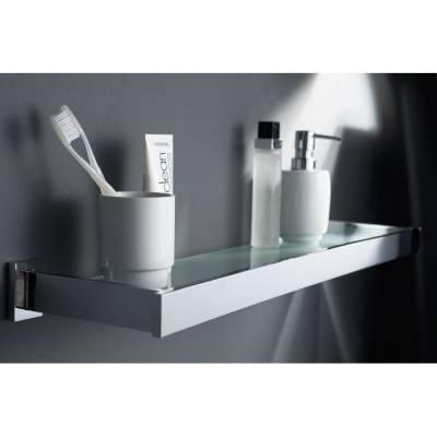 Полка для ванной - металл и стекло - Haceka Edge