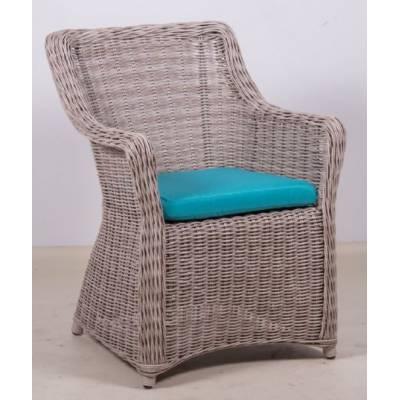 Плетеное кресло КОРФУ обеденное жгут 9677 ТЕРРАСА Люкс с подушкой