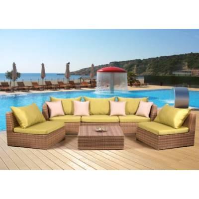 Комплект плетеной мебели ИБИЦА жгут 30296 ТЕРРАСА Люкс с подушками