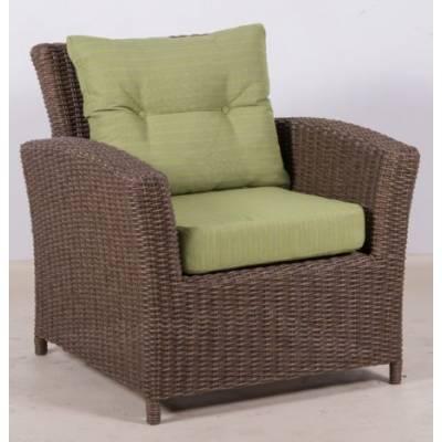 Плетеное кресло САН-МАРИНО жгут 30839 ТЕРРАСА Люкс с подушками ткань М9003