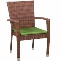 Плетеное кресло БАЛИ жгут 30703 ТЕРРАСА Люкс с подушкой