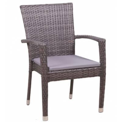 Плетеное кресло БАЛИ жгут 7412 ТЕРРАСА Люкс с подушкой