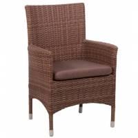 Плетеное кресло КИПР жгут 30703 ТЕРРАСА Люкс с подушкой