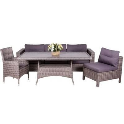 Композиция плетеной мебели МАТЕРА-2+КРИТ жгут 7262/7425 ТЕРРАСА Люкс с подушками