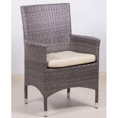 Плетеное кресло КИПР жгут 7412 ТЕРРАСА Люкс с подушкой