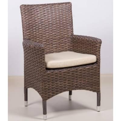 Плетеное кресло КИПР жгут 30806/30832-1 ТЕРРАСА Люкс с подушкой