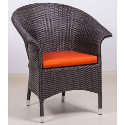 Плетеное кресло РИО жгут 30834 ТЕРРАСА Люкс с подушкой