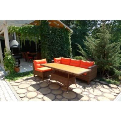 Композиция плетеной мебели МАТЕРА-2+КРИТ жгут 30703 ТЕРРАСА Люкс с подушками