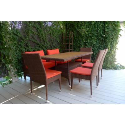 Композиция плетеной мебели КРИТ+МАТЕРА-2 жгут 30703 ТЕРРАСА Люкс с подушками