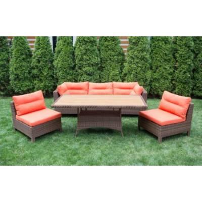 Комплект плетеной мебели МАТЕРА-2 жгут 30703 ТЕРРАСА Люкс с подушками