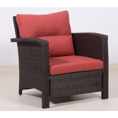 Плетеное кресло ВЕНЕЦИЯ-2 жгут 30834 ТЕРРАСА Люкс с подушками ткань М9002