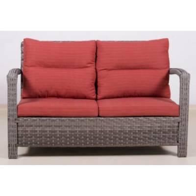 Плетеный диван ВЕНЕЦИЯ 2-х местный жгут 7262/7425 ТЕРРАСА Люкс с подушками