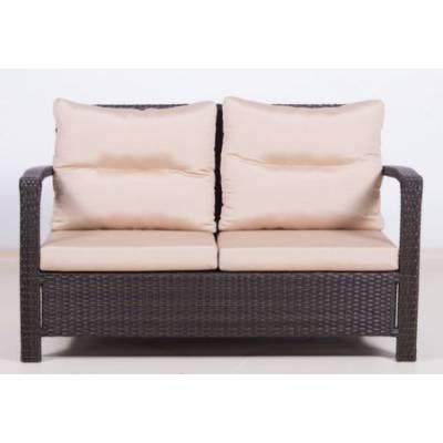Плетеный диван 2-х местный ВЕНЕЦИЯ жгут 30834 ТЕРРАСА Люкс Открытые подлокотники с подушками