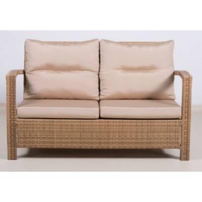 Плетеный диван 2-х местный ВЕНЕЦИЯ жгут 30296 ТЕРРАСА Люкс Открытые подлокотники с подушками