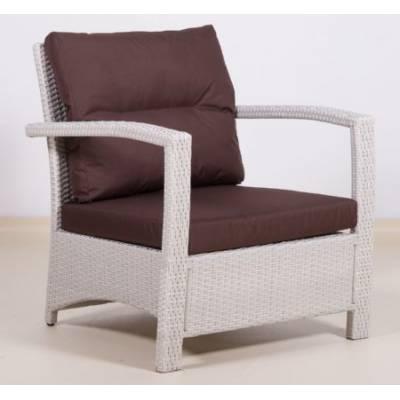 Плетеное кресло ВЕНЕЦИЯ жгут 9366 ТЕРРАСА Люкс с подушками