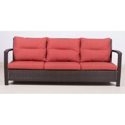 Плетеный диван 3-х местный ВЕНЕЦИЯ жгут 30834 ТЕРРАСА Люкс с подушками