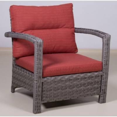 Плетеное кресло ВЕНЕЦИЯ жгут 7262/7425 ТЕРРАСА Люкс с подушками ткань М9002