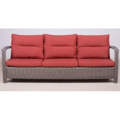 Плетеный диван 3-х местный ВЕНЕЦИЯ жгут 7262/7425 ТЕРРАСА Люкс с подушками