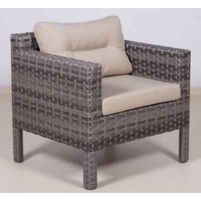 Плетеное кресло РОДОС жгут 7262/7425 ТЕРРАСА Люкс с подушками