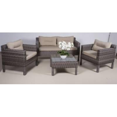 Комплект плетеной мебели РОДОС NEW жгут 7262/7425 ТЕРРАСА Люкс с подушками