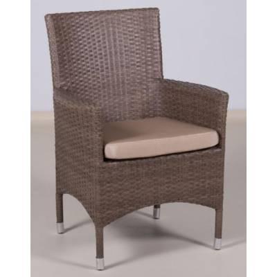 Плетеное кресло КИПР жгут 30821 ТЕРРАСА Люкс с подушкой
