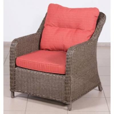 Кресло РИО-ГРАНДЕ жгут 30832-1кр ТЕРРАСА Люкс с подушками ткань М9002