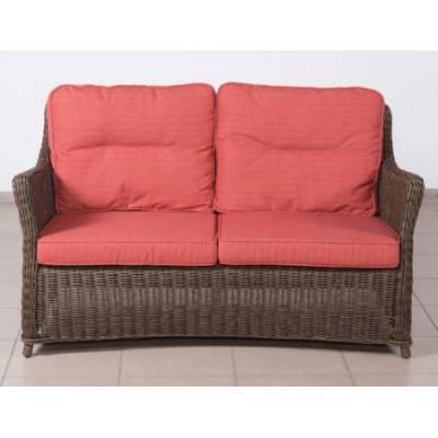 Плетеный диван низкий 2-х местный КОРФУ лаунж жгут 30832-1кр ТЕРРАСА Люкс