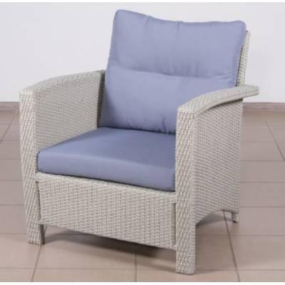 Плетеное кресло ВЕНЕЦИЯ-2 жгут 9378 ТЕРРАСА Люкс с подушками ткань 14808