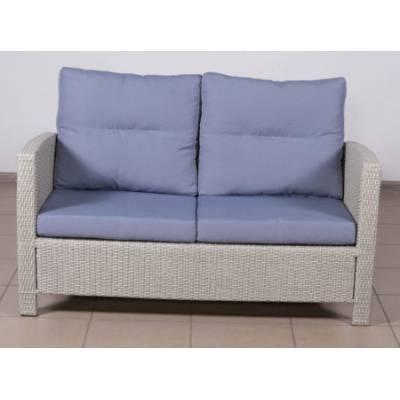 Плетеный диван 2-х местный ВЕНЕЦИЯ-2 жгут 9378 ТЕРРАСА Люкс Закрытые подлокотники с подушками