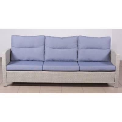 Плетеный диван 3-х местный ВЕНЕЦИЯ-2 жгут 9378 ТЕРРАСА Люкс с подушками