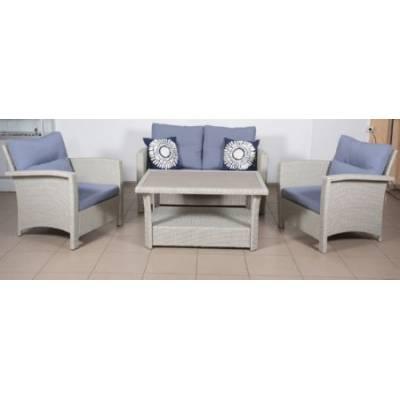 Комплект плетеной мебели ВЕНЕЦИЯ-2 жгут 9378 из искусственного ротанга ТЕРРАСА Люкс с подушками