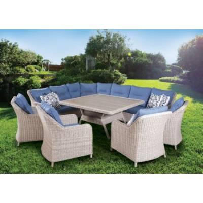 Комплект плетеной мебели РИО-ГРАНДЕ жгут 9677 ТЕРРАСА Люкс с подушками