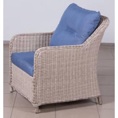 Кресло РИО-ГРАНДЕ жгут 9677 ТЕРРАСА Люкс с подушками ткань 17807