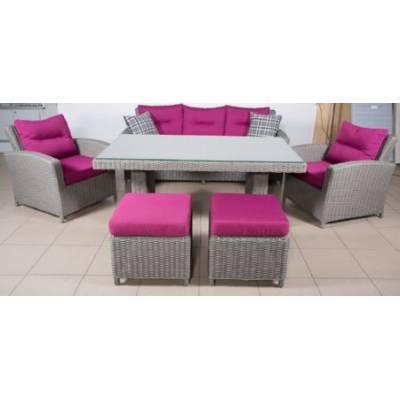 Комплект плетеной мебели САН-МАРИНО жгут 7425 ТЕРРАСА Люкс с подушками