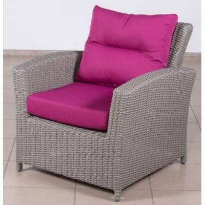 Плетеное кресло САН-МАРИНО жгут 7425 ТЕРРАСА Люкс с подушками ткань 13 821