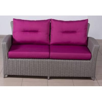 Плетеный диван САН-МАРИНО 2-х местный жгут 7425 ТЕРРАСА Люкс с подушками