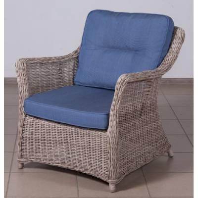 Кресло КОРФУ лаунж жгут 9677 ТЕРРАСА Люкс с подушками ткань 17807