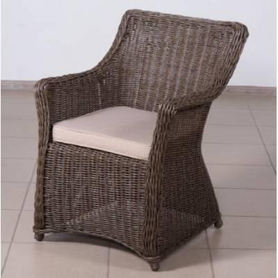 Плетеное кресло КОРФУ обеденное жгут 30832-1кр ТЕРРАСА Люкс с подушкой ткань М9306