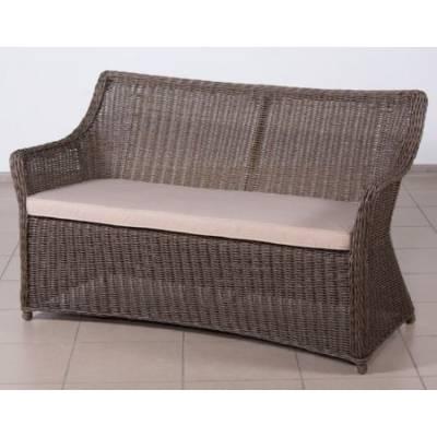 Плетеный диван обеденный 2-х местный КОРФУ жгут 30832-1кр ТЕРРАСА Люкс ткань М9306