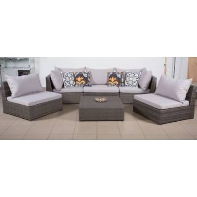 Комплект плетеной мебели ИБИЦА жгут 7412 ТЕРРАСА Люкс с подушками ткань 13806