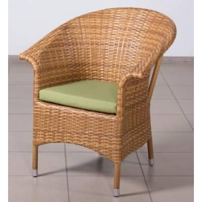 Плетеное кресло РИО жгут 31476-15 ТЕРРАСА Люкс с подушкой ткань 14805