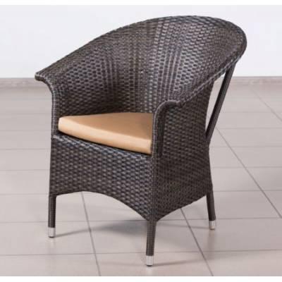 Плетеное кресло РИО жгут 30834 ТЕРРАСА Люкс с подушкой ткань 14203