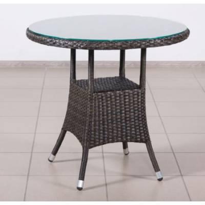 Стол со стеклом круглый КРИТ жгут 30834 ТЕРРАСА Люкс D-80 см
