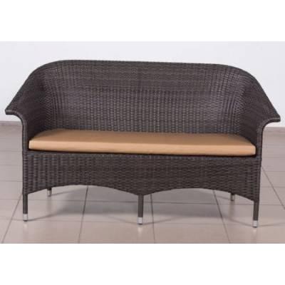 Скамья 2-х местная РИО жгут 30834 ТЕРРАСА Люкс с подушкой ткань 14203