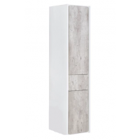 Пенал Roca RONDA, правый, белый глянец/бетон