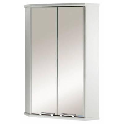 Шкаф-зеркало угловой двустворчатый Акватон Призма