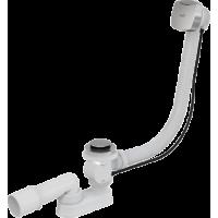 A51CR Сифон для ванны автомат комплект хромированный пластик/металл