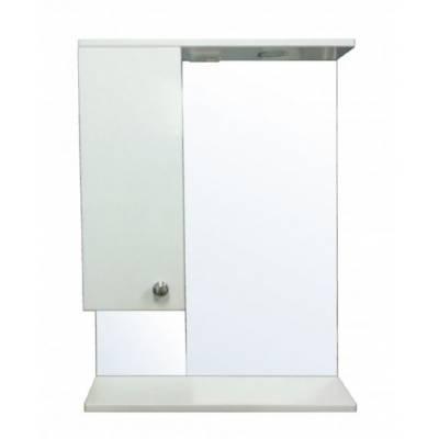 Зеркало-шкаф Моника 60 левый (600*695*150 ) со светильником