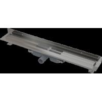 APZ116-850 Водоотводящий желоб с порогами для цельной решетки и фиксированным воротником к стене (сталь)
