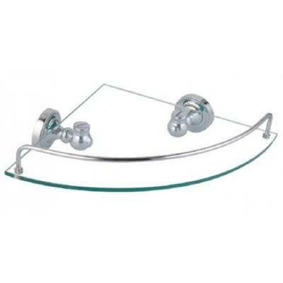 Полка стеклянная угловая Fixsen Style FX-41103A
